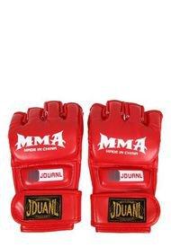 Guante MMA Boxeo Kick Boxing Cuero PU Adultos Medio Rojo