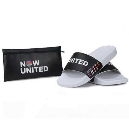 La Faire Chinelo Slide Now United Banda Lançamento Com Necessaire Preto E61F2