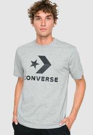 Polera Converse Star Chevron Tee Gris - Calce Regular