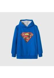 Poleron Niño Logo Superman Azul Dc Comics