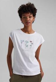 Polera Mujer Con Estampado Floral Blanco Esprit