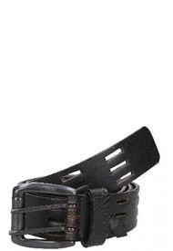 Cinturón Cuero Perforado Negro Panama Jack