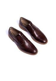 Zapatos Para Hombre En Cuero Legítimo Marrón Overstate CA-4870OV