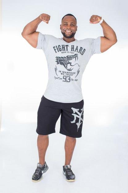 Camisa Império Fitness Long Império Fitness Fight Hard Branca