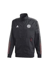 Campera Negra Adidas river plate anthem jacket 2021