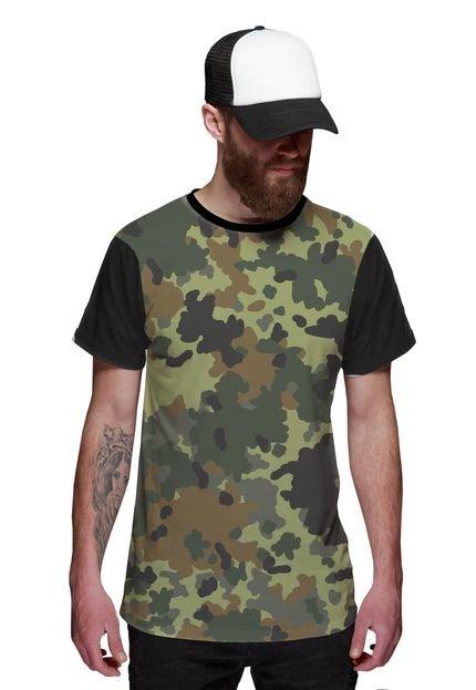 Camiseta Di Nuevo Camuflada Brasileira Verde Exército Preta