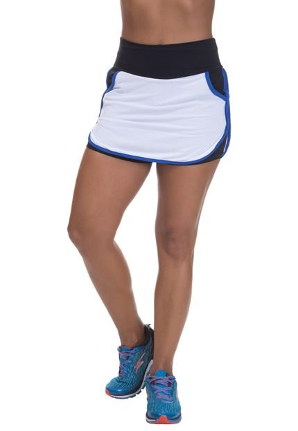 Miss Blessed Shorts Saia Mis Blessed com Dry Fit Branco RUNYd