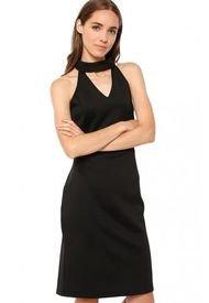 Vestido Off Shoulder Cuello Negro Gouache