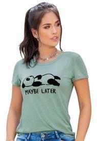 Camiseta Para Mujer Verde Oliva Atypical