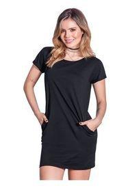 Vestido Corto Juvenil Para Mujer Atypical -Negro