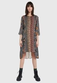 Vestido Desigual Multicolor - Calce Regular