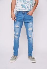 Jeans Hombre Destroyed Skinny Azul Family Shop