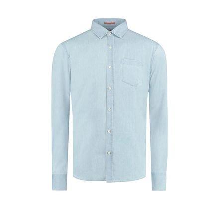 Camisa Vr Denim Ml Azul