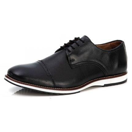 Duvelmon Sapato Casual Premium Couro Conforto Preto HyVos