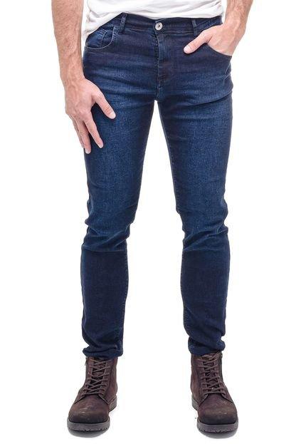 Calça Ballad Jeans Slim Lycra Azul