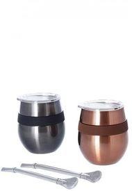 Set De 2 Mug Hierba Mate Cucao 230ml Negro Doite