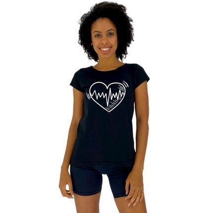 Alto Conceito Camisa Babylook Alto Conceito Coração Cardio Preto mOK4F