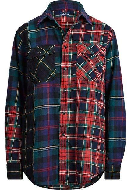 Polo Ralph Lauren Camisa Polo Ralph Lauren Reta Xadrez Vermelha KSBr5