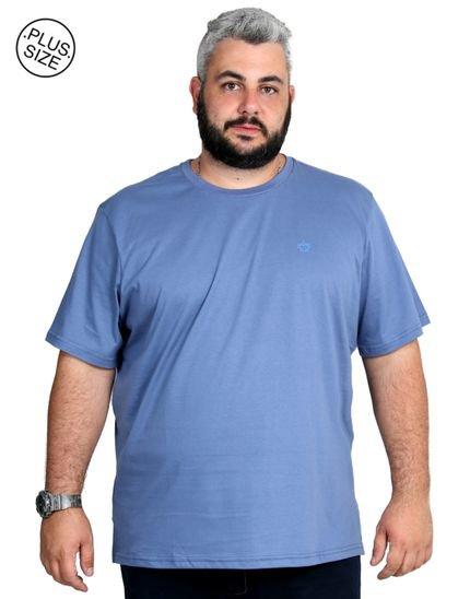 Camiseta Plus Size Bigshirts Lisa Azul