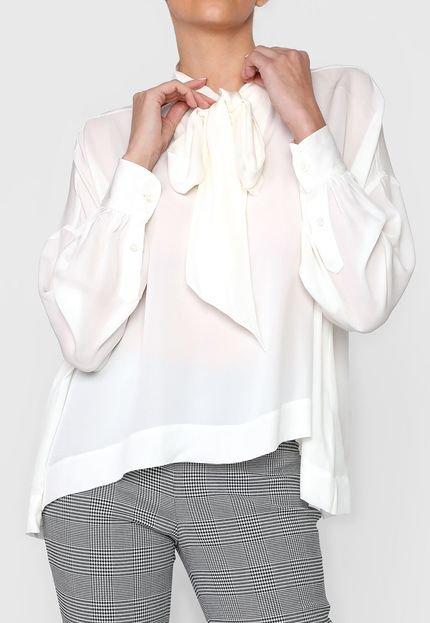Polo Ralph Lauren Camisa Seda Polo Ralph Lauren Lisa Off-White skxUx