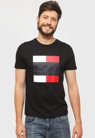 Polera Tommy Hilfiger WCC EMBOSSED GRAPHIC TEE Negro - Calce Regular