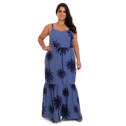 V&Z Fashion Plus Vestido Longo Franzido Plus Size -50 aXeyH