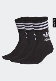 Medias Trío Negro-Blanco adidas Originals Clásico Mid Cut