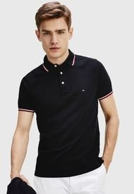 Polera Tommy Hilfiger TOMMY TIPPED SLIM POLO Negro - Calce Slim Fit