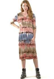 Vestido Lanilla Estampado Rosa Bous
