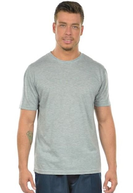 Camiseta Urbania Malha Fria Cinza Claro