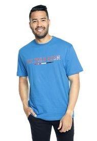 Camiseta Azul turquesa-Rojo Us Polo Assn