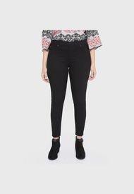 Calza Jeans Color Negro Curvi