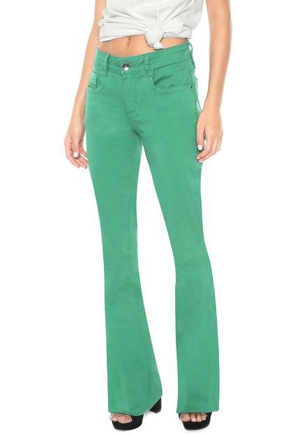 Menor preço em Calça Sarja My Favorite Thing(s) Flare Color Verde
