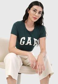 Camiseta Verde Oliva-Blanco GAP