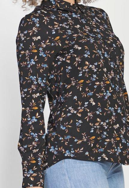 Facinelli by MOONCITY Camisa Facinelli by MOONCITY Floral Preta
