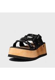 Sandalia Plataforma Negra Gotta