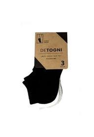 Calcetin Negro-Gris-Blanco Sock Pack DeTogni