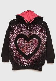 Sweater Desigual Niña California Negro - Calce Regular