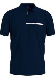 Polo Algodón Logo Corte Regular Azul Tommy Hilfiger