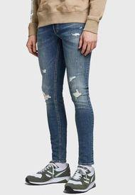 Jeans Jack & Jones JJITOM JJORIGINAL NA 101 Azul - Calce Slim Fit