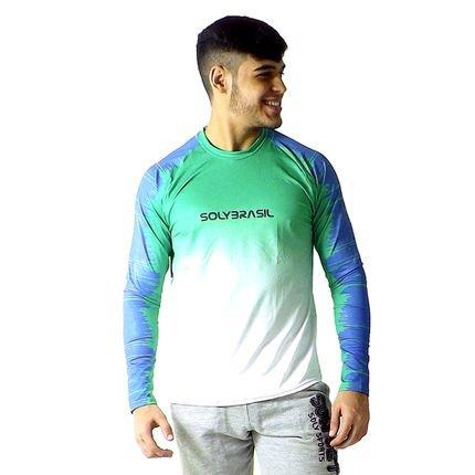 Camisa Longa Lines Camiseta Masculino Proteção Uv50 dry Fit