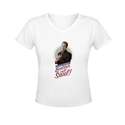 Nerderia Camiseta Nerderia Better Call Saul Retro Branco ehsIQ