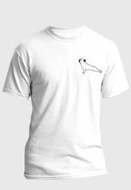 Camiseta Estampada Hombre Negro-Blanco Kuva - Perro Animal Yoga