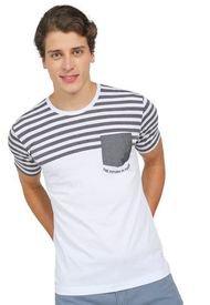 Camiseta Blanco-Gris COLORE