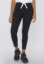 Jeans Color Básico Crop I Negro  Mujer Corona
