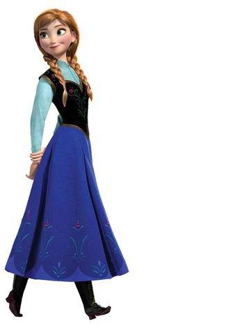 Adesivos De Parede Roommates Colorido Disney Frozen Anna Giant