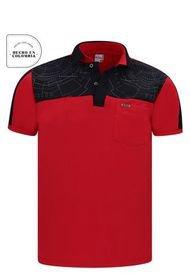 Camiseta Tipo Polo Roja Audax Con Bolsillo