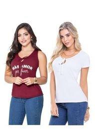 Camiseta Paq X2 Adulto Femenino Bicolor Marketing  Personal