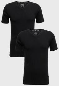 Pack 2 Camisetas Jockey Negro - Calce Slim Fit