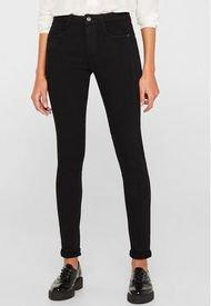 Pantalón Elástico Con Costuras Decorativas Negro Esprit